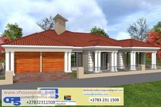 Overall Dimensions- x mBathrooms- 3 Garages- 2 Car Garage Area- Square meters Bedroom House Plans, Dream House Plans, House Floor Plans, My Dream Home, Dream Homes, House Outside Design, House Plans With Photos, Building Costs, Architectural House Plans