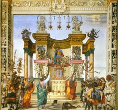 Filippino Lippi Exorcism of the Demon in the Temple of Mars Strozzi Chapel
