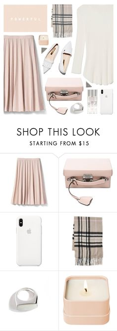 """Fall pink"" by deepwinter ❤ liked on Polyvore featuring Banana Republic, Mark Cross, Fraas, Lizzie Fortunato, Henri Bendel, KC Designs, Fall, Pink, pleats and boxbag"
