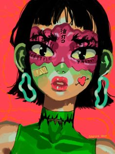 """W a v y ~~~ I've been super inspired by the wavy brow look I had to draw them! Arte Grunge, Grunge Art, Pretty Art, Cute Art, Orochimaru Wallpapers, Arte Indie, Arte Sketchbook, Hippie Art, Psychedelic Art"