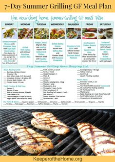 Hit the grill this summer with this 7-Day Summer Grilling Meal Plan just for you! It's gluten free and allergy friendly – plus you don't have to heat up the house cooking in the kitchen!