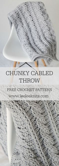Its been a while since I posted a crochet throw/afghan pattern. I'm not sure why, since blankets are my…