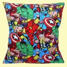 NEW CAPTAIN MARVEL COMIC BOOK HEROES HULK 100% Cotton 16  Pillow Cushion Cover
