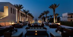The Long Pool at 5 star hotel: The Chedi Muscat. This hotel's address is: North Ghubra Way No. November Street Al Ghubrah Muscat 133 and have 158 rooms Oman Hotels, Hotels And Resorts, Best Hotels, Luxury Hotels, Luxury Yachts, Dubai, Sharjah, Abu Dhabi, Chedi Hotel