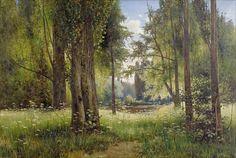"""Michail Stepanovich Tkatchenko (1860-1919), """"Pond in the forest"""""""