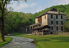 Spring Mill SP (over 2 hours): camping, hiking, historical sites, Twin Caves boat tours, Bluespring Caverns nearby
