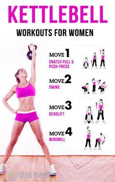 #Kettlebell Workouts for Women.
