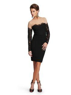 GUESS by Marciano Women's Kellyn Lace & Ponte Dress, JET BLACK (XS) $228.00 #GUESSbyMarciano