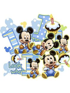 Mickey 1st Birthday Confetti