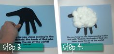 Lamb of God Craft  Could have cubbies make these on the first night and use them on the bulletin board Toddler Sunday School, Sunday School Teacher, Sunday School Crafts, Vbs Crafts, Church Crafts, Bible Crafts, Preschool Crafts, Church Activities, Craft Activities For Kids