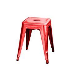 """Der rote Hocker """"Tabouret"""" von TOLIX bringt Farbe in die vier Wände! Der feuerrote Designklassiker aus den 1930er Jahren wird aus 1mm starkem Stahlblech gefertigt und lässt sich ideal in der Küche oder als zusätzlicher Sitzplatz am..."""