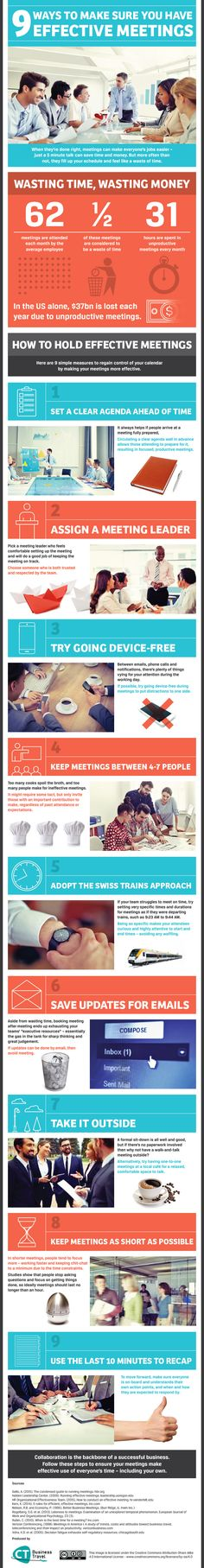 Tired of Useless Meetings? 9 Ways to Make Them More Effective. #Infographic #business #startup