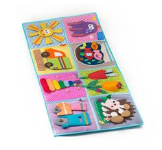 Developing Baby Play Mat, busy mat, Felt Play Mat, Baby puzzle, quiet book or Play Mat, Panel Mat (10m+) - MiniMom's -