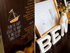Custom Menu and Invitation, Where the Wild Things Are inspired first Birthday, Korean dol, Modern, yellow, theme. Event design and styling, paper goods, and photography by Jackie Culmer Photography. www.jackieculmer.com, © Jackie Culmer Photography