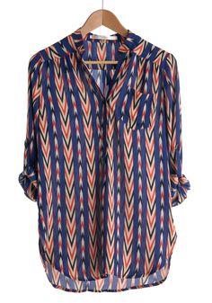 $37.99 Optical Delight Top | Mod Retro Vintage Long Sleeve Shirts | ModCloth.com