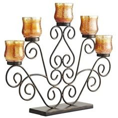 Scroll Tealight Centerpiece - bought this yesterday and I love it! Home Furnishing Accessories, Decorative Accessories, Tuscan Decorating, Decorating Ideas, Metal Candle Holders, Pier 1 Imports, Dream Decor, Bohemian Decor, Wedding Centerpieces