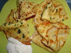 Thin pancakes with potatoes - My favorite recipes Vegetable Pancakes, Potato Pancakes, Thin Pancakes, Tasty Pancakes, Vegetable Recipes, Vegetarian Recipes, Cooking Recipes, My Favorite Food, Favorite Recipes