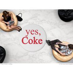 Yes Coke Coca-Cola Disc Floor Graphic White Coca Cola Decor, Retro Living Rooms, Floor Decal, Retro Clock, Soda Fountain, Vinyl Flooring, Coke, Game Room, Floors