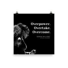 Serena Williams Quote | Motivational Photo paper poster | eBay