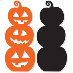 Silhouette Design Store: stacked pumpkins - Miriam Andrews Photo Page Moldes Halloween, Manualidades Halloween, Adornos Halloween, Halloween Art, Holidays Halloween, Silhouette Design, Silhouette Cameo Projects, Silhouette Clip Art, Deco Haloween