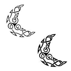 moon tattoos | Celtic Triskell Moon Tattoo