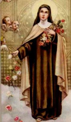 Start with :   Saint Therese, flower of Carmel, you said you would spend your heaven doing good upon the earth. Your trust in God was co...