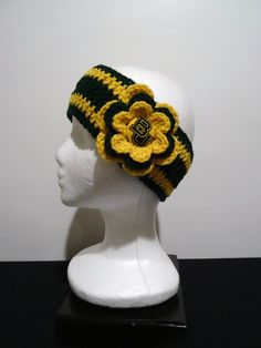 Crocheted Earwarmer Baylor University with by OliviaRyanbyDGuess, $17.00