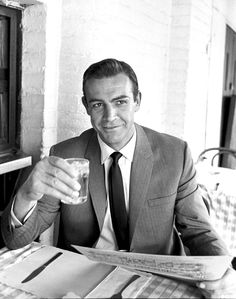 #Vintage and #Fashion -- #SeanConnery by #LeoFuchs -- #BlackTie