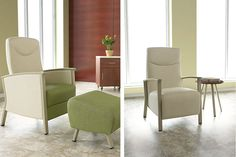 New Soltice patient chair with Ottamen and open arm with side table