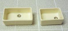 Modern china Belfast (Butler's) sink - 2 sizes | ELF Miniatures