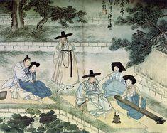 Korean Traditional art by Shin Yun-bok Korean Traditional, Traditional Art, Vietnam, Korean Painting, Asian History, China Art, Korean Art, Traditional Paintings, Painting Prints