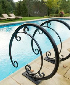 Best Stunning Bronze Custom Pool Handrail Pool Updating In 640 x 480