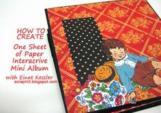 I love interactive projects especially mini albums. It's so much fun to go through an album and find surprises in it. Pull a tag, open a doo...