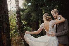 Свадьба в стиле эко-рустик, жених и невеста
