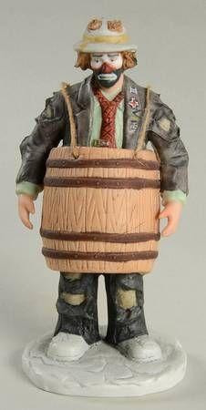 Over A Barrel - Boxed in Emmett Kelly Jr Miniature by Flambro