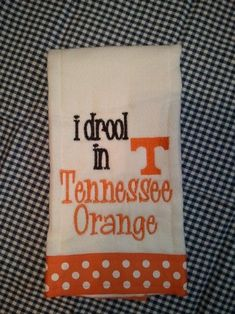 Tennessee Vols Baby Burp Cloth