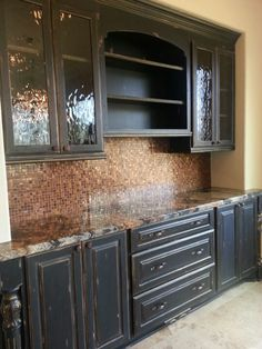 Distressed Black Kitchen Cabinets Diy Outdoor Kitchens On A Budget 18 Best Images Future House Home Decor Finish Redo