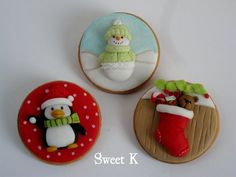 CHRISTMAS 2D COOKIES - by Karla (Sweet K) @ CakesDecor.com - cake decorating website
