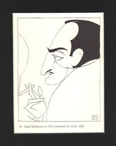 Basil Rathbone Framed Image as Gaston The Command to Love Play by Al Hirschfeld