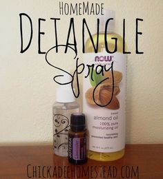 Natural Detangle Spray | Chickadee Homestead