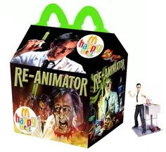 Horror Happy Meals We Wish Existed - Wicked Horror Scary Movies, Horror Movies, Ghost Movies, Happy Meal Box, Re Animator, Funny Horror, Arte Horror, Spirit Halloween, Halloween Stuff