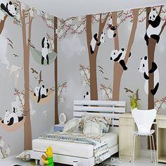 panda bedroom boy wallpapers boys children cartoon stereo backgrounds cool rooms kid animal itl mural teenage pandas sino dhgate animegirl
