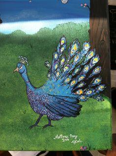 Peacock handprint