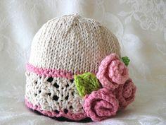Sombreros del bebé que hace punto cordón hecho por CottonPickings