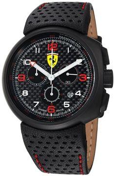 Ferrari F1 Fast Lap Carbon Fiber Dial Chronograph Mens Watches FE-10-IPB-CP-FC