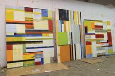 American Artist Lloyd Martin.  In the studio. Photo: Courtesy Stephen Haller Gallery.  Opening April 5 - May 12, 2012, Stephen Haller Gallery, NYC