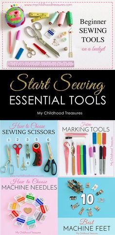 Want to learn to sew? Here are the best tutorials on creating the ultimate sewing kit on a budget. Learn which are the best sewing needles, machine feet, marking tools, cutting tools and basic supplies to make your next sewing project a success.