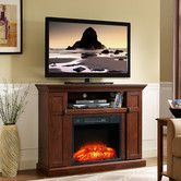 Monte Carlo Electric Fireplace TV Stand Black on the image