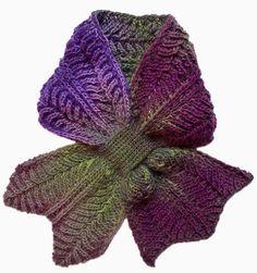 Rodekool brioche scarf Free Knitting Pattern