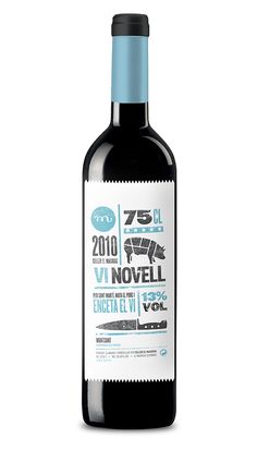 Great mix of iconic and typographic styles for Vi Novell Wine by Barcelona based studio, Atipus.
